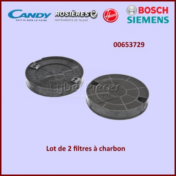 Filtre à charbon Type DHZ5195 Bosch 00653729