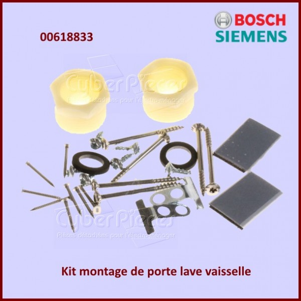 kit de montage de porte bosch 00618833 pour lave vaisselle lavage pieces detachees electromenager. Black Bedroom Furniture Sets. Home Design Ideas