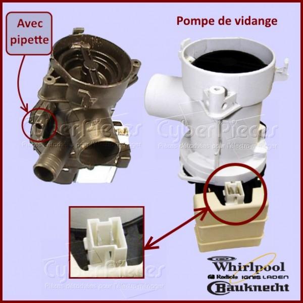 Pompe de vidange Whirlpool 481936018198