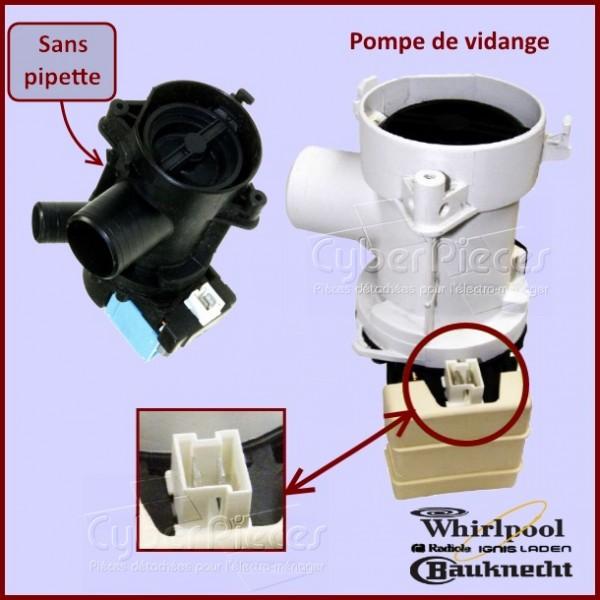 pompe de vidange whirlpool 481936018194 pour pompe de. Black Bedroom Furniture Sets. Home Design Ideas