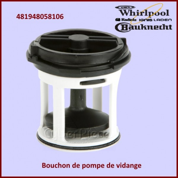 Bouchon de pompe Whirlpool 481948058106