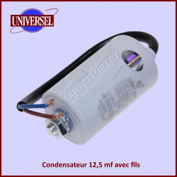 Condensateur 12,5 mf / 450 V avec fils