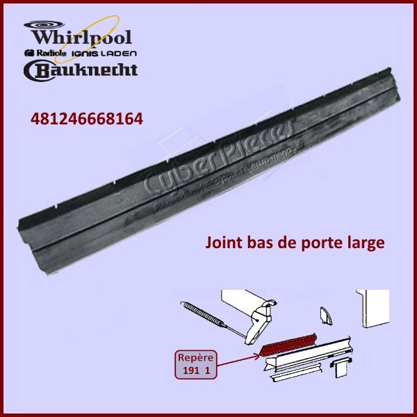 joint bas de porte whirlpool 481246668164 pour joints bas. Black Bedroom Furniture Sets. Home Design Ideas