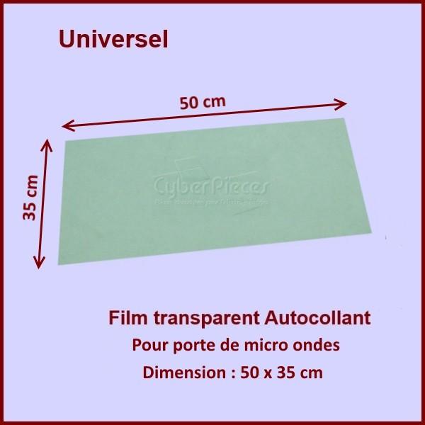 film adh sif plastique de porte 50 x 35 cm pour micro ondes cuisson pieces detachees electromenager. Black Bedroom Furniture Sets. Home Design Ideas