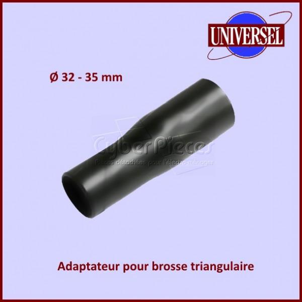 Adaptateur de brosse d'aspirateur triangulaire Ø 32-35 mm