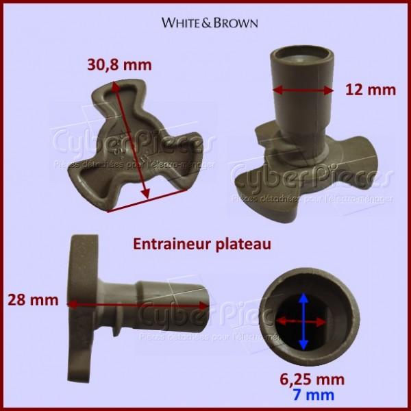 Entraîneur plateau micro-ondes White&brown