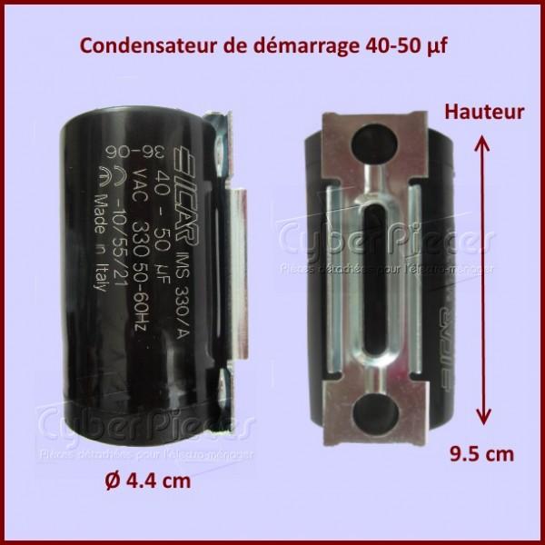 Condensateur 40µF - 50µFµF (40µF - 50µFMF) 450 Volts