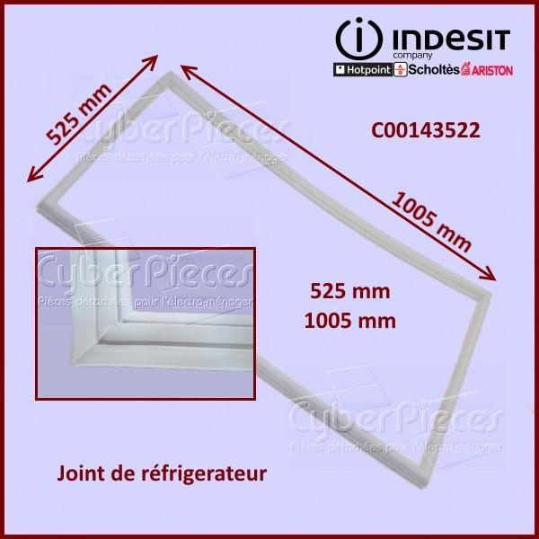 joint de porte de r frig rateur indesit c00143522 pour joints refrigerateurs et congelateurs. Black Bedroom Furniture Sets. Home Design Ideas
