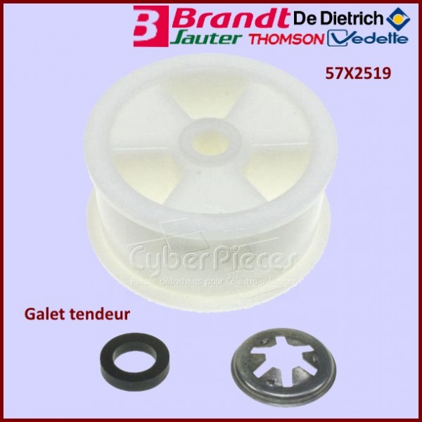 Galet tendeur brandt 57x2519 pour s che linge lavage - Seche linge petite dimension ...