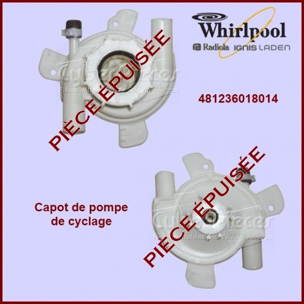 Capot de pompe P28 - Whirlpool 481236018014 ***Pièce épuisée***
