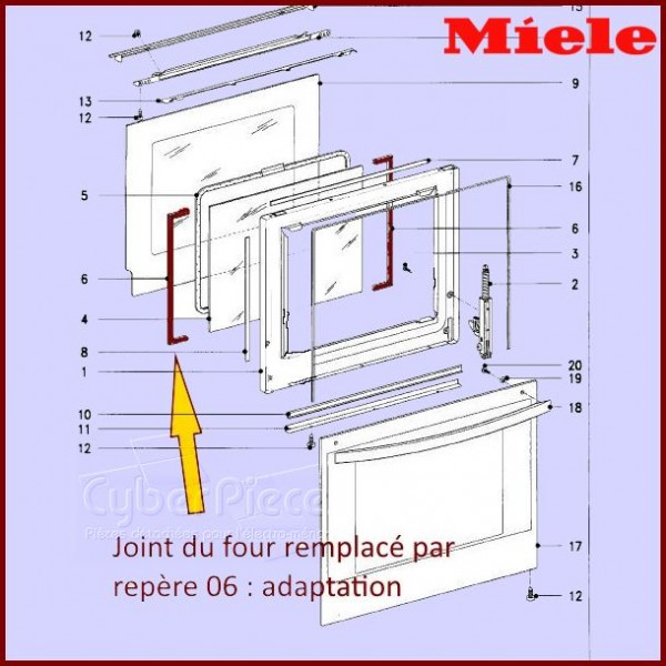 Adaptation joint de porte MIELE 5767440