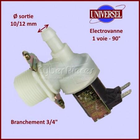 Électrovanne 1 voie 90° Ø 10/12mm