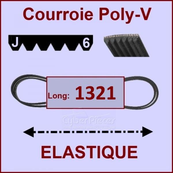Courroie 1321 J6 - EL - Elastique
