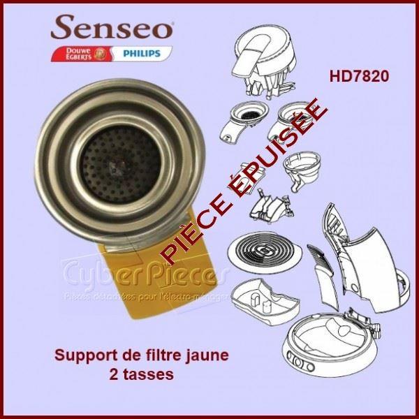 Porte dosette 2 tasses jaune Senseo - 422225943010