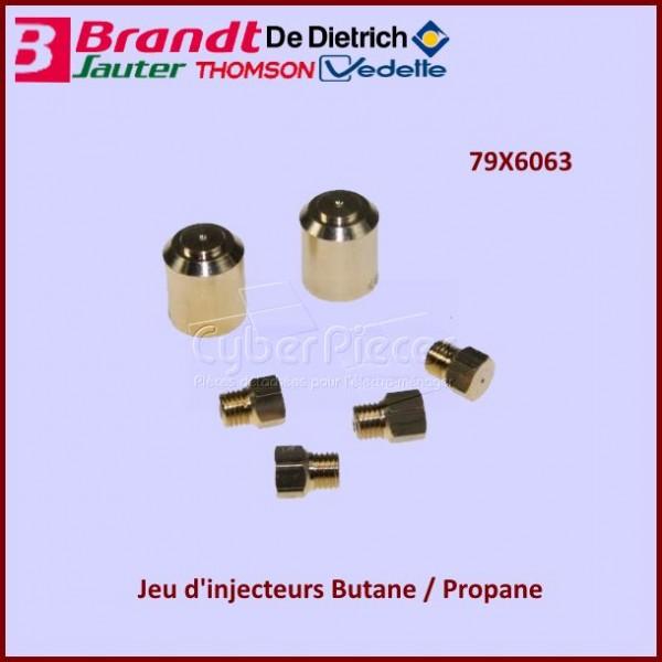 Jeu d'injecteurs gaz Butane Propane Brandt 79X6063