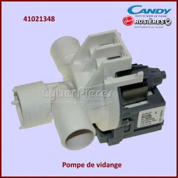pompe de vidange candy 41021348 pour pompe de vidange machine a laver lavage pieces detachees. Black Bedroom Furniture Sets. Home Design Ideas