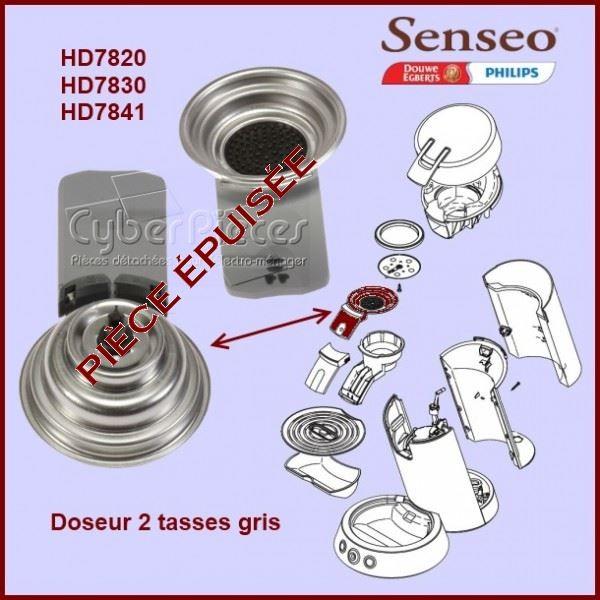Support de filtre Gris 2 tasses Senseo - 422225939250