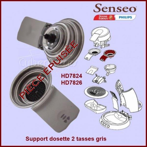 Support dosette 2 tasses gris Senseo - 422225939260***épuisé***