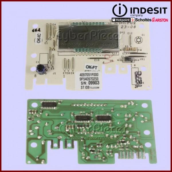 Carte d'affichage LCD ROHS  Indesit C00143242