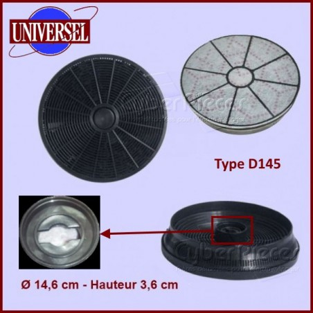 Filtres à charbon Type D145 (lot de 2)