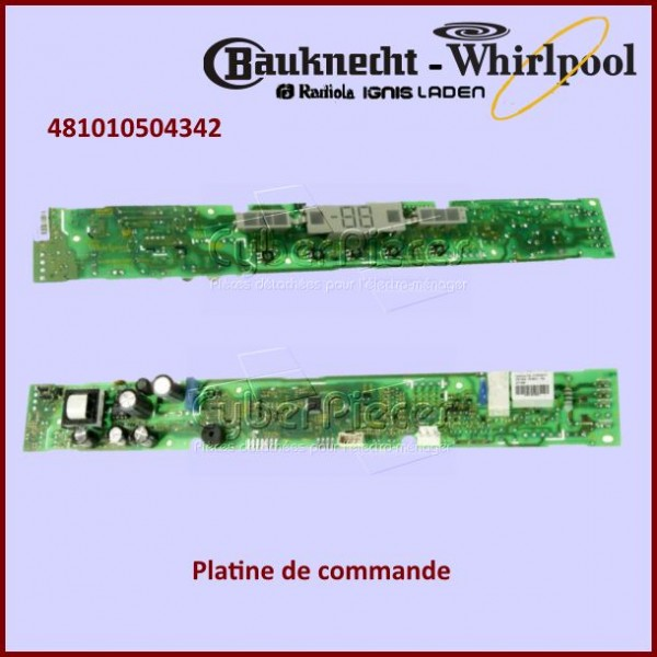 Platine de commande Whirlpool 481010618307