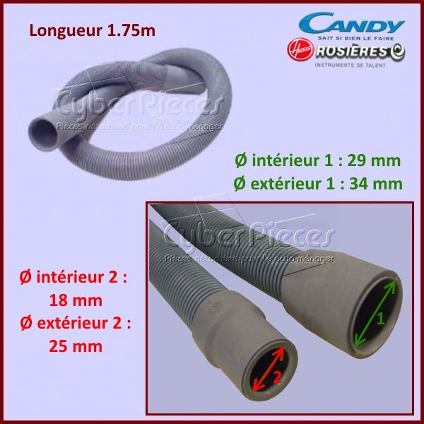 Tuyau de vidange Candy 92150101