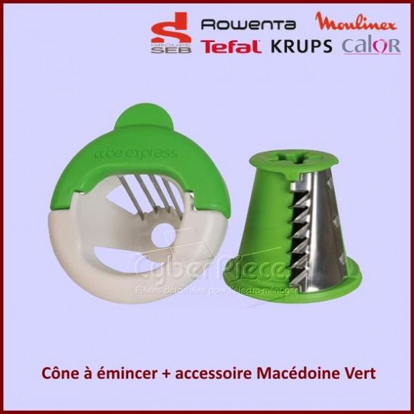 Cône à émincer + accessoire Macédoine Vert Seb XF921401