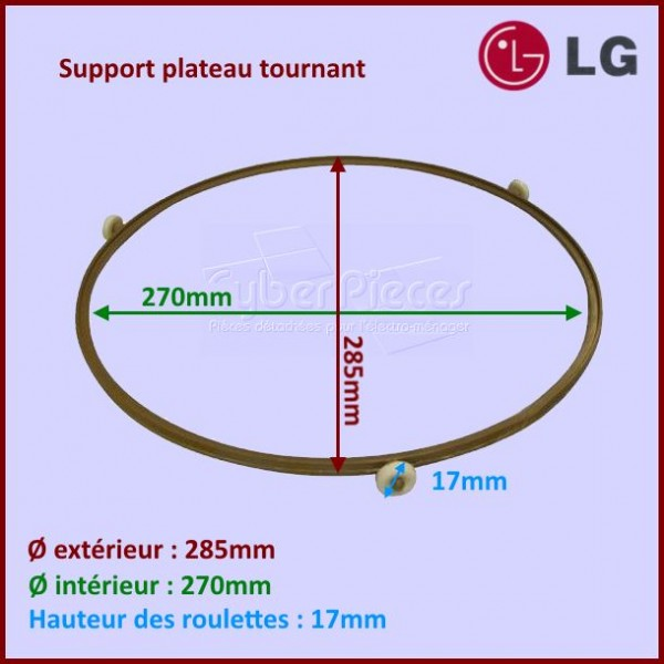 Support plateau tournant LG AJS59271901