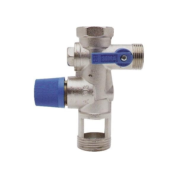 Groupe de s curit 3 4 7 bars universel pour chauffe eau chauffage pieces det - Fonctionnement groupe de securite ...