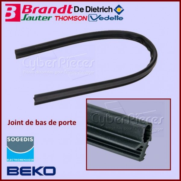 joint de bas de porte beko 1882470100 pour joints bas et tour de portes lave vaisselle lavage. Black Bedroom Furniture Sets. Home Design Ideas