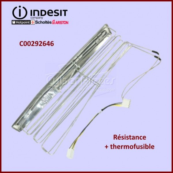 Résistance + thermofusible 180W/72°Indesit C00292646