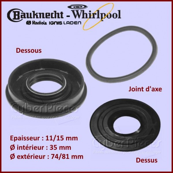 Joint 35x74/81x11/15 Whirlpool 481246668069