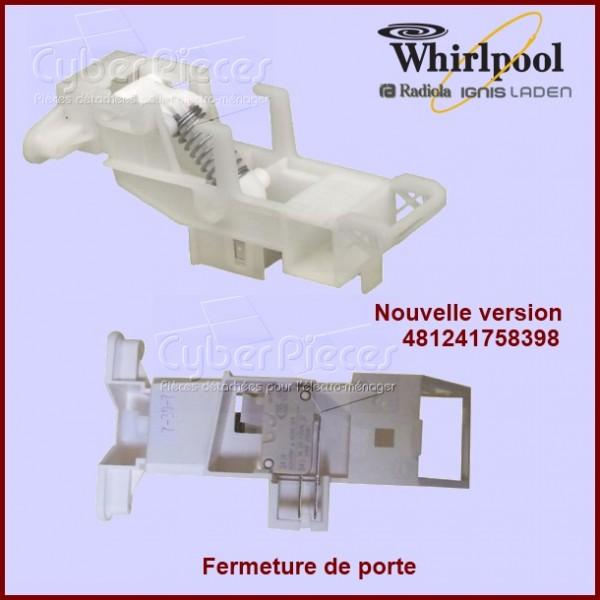 Verrouillage de porte whirlpool 481241758398 pour poignee for Decoration porte lave vaisselle