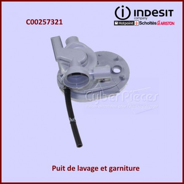 Puit de lavage + garniture Indesit C00257321