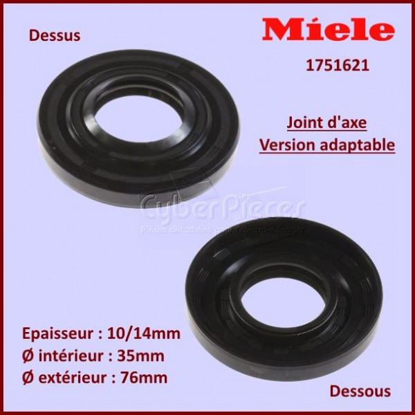 Joint adaptable 35X76X10/14 Miele 1751621