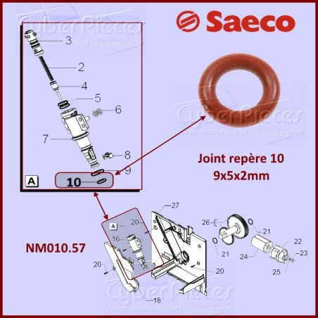 Joint silicone SAECO  NM01057