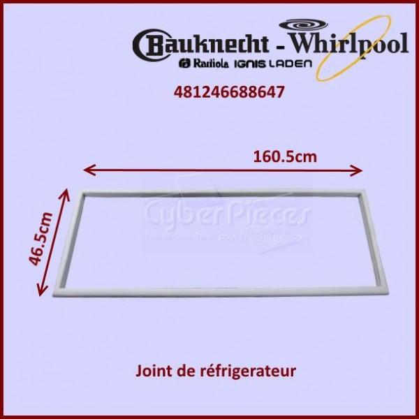 Joint magnétique de porte Whirlpool 481246688647