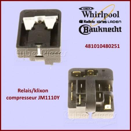 Relais klixon compresseur Whirlpool 481010480251