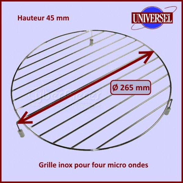 Grille Inox basse pour micro-ondes Ø 26,5cm