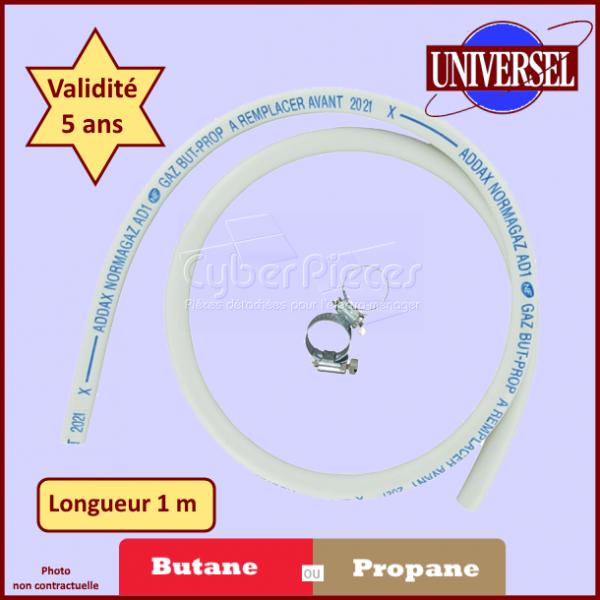 Tuyau de Gaz butane ou propane 1.00 m avec colliers