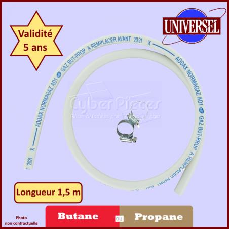 Tuyau de Gaz butane ou propane 1.50 m avec colliers