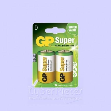 Lot de 2 piles GP alcaline  LR20 1,5V