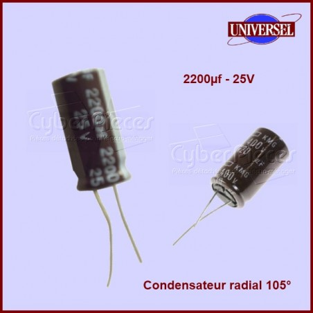Condensateur 2200.0µF (2200.0MF) 25 Volts