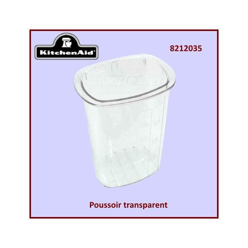 Poussoir transparent KFP79P Kitchenaid 8212035