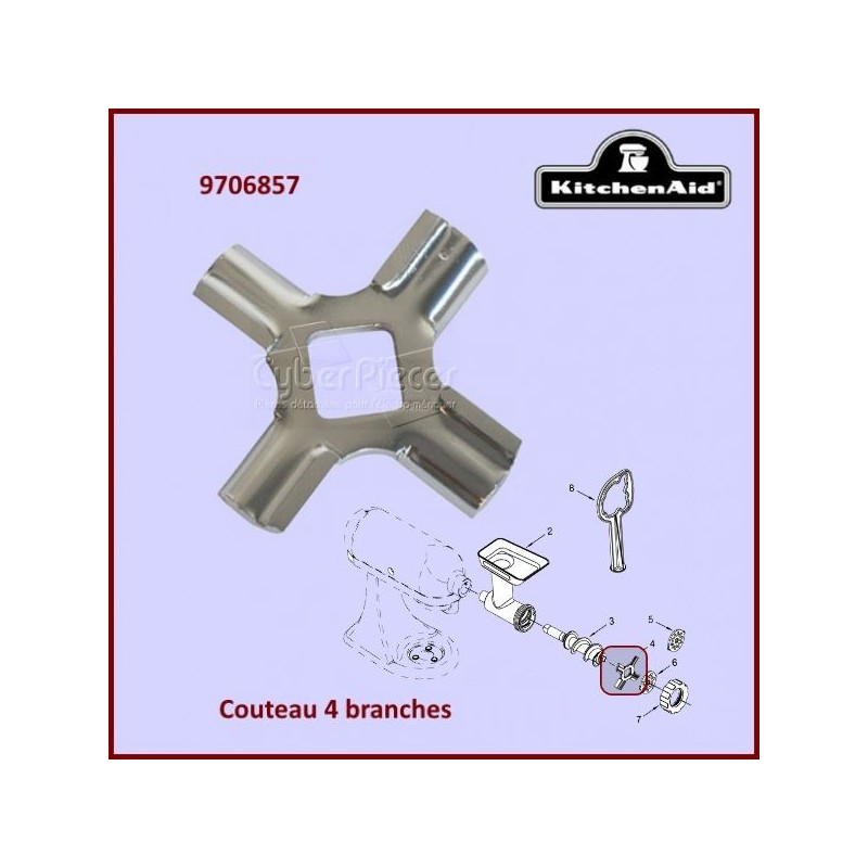 Couteau 4 branches Kitchenaid FGA 9706857