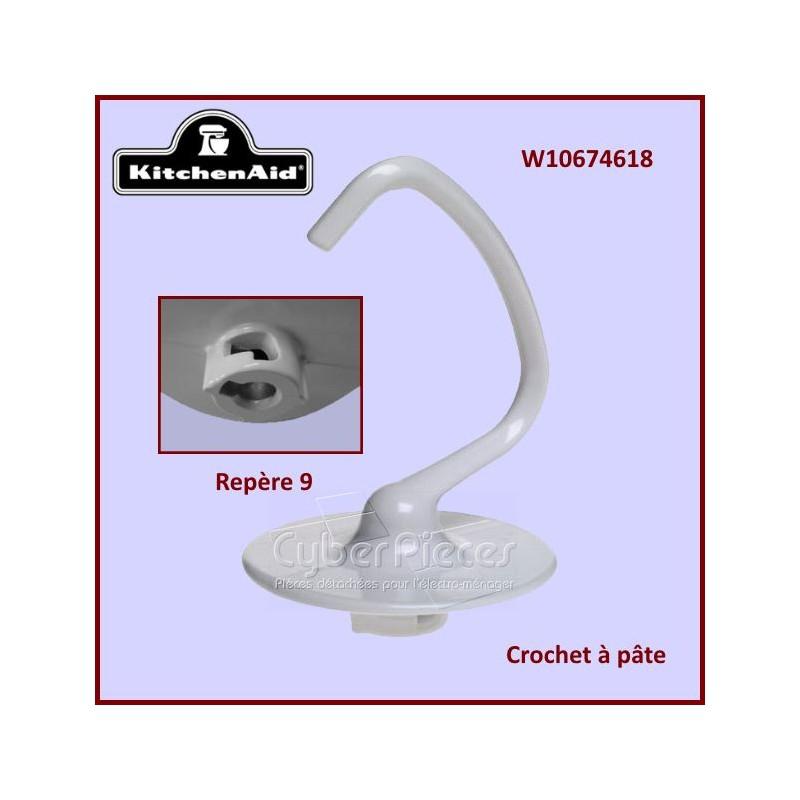 Crochet à pâte blanc K45DH Kitchenaid W10674618