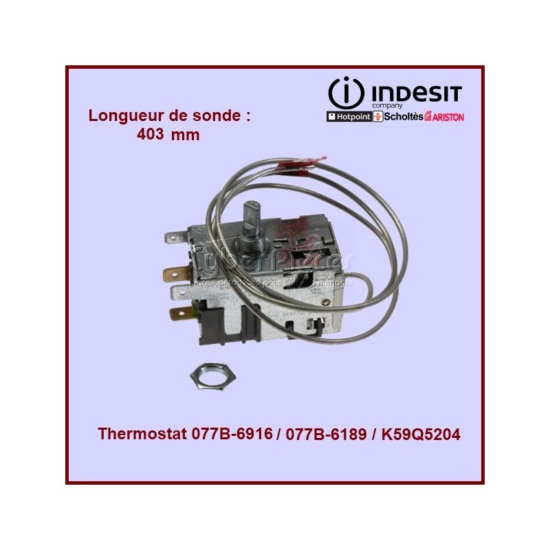 Thermostat  Ariston Indesit 077B-6189 (C00143906)