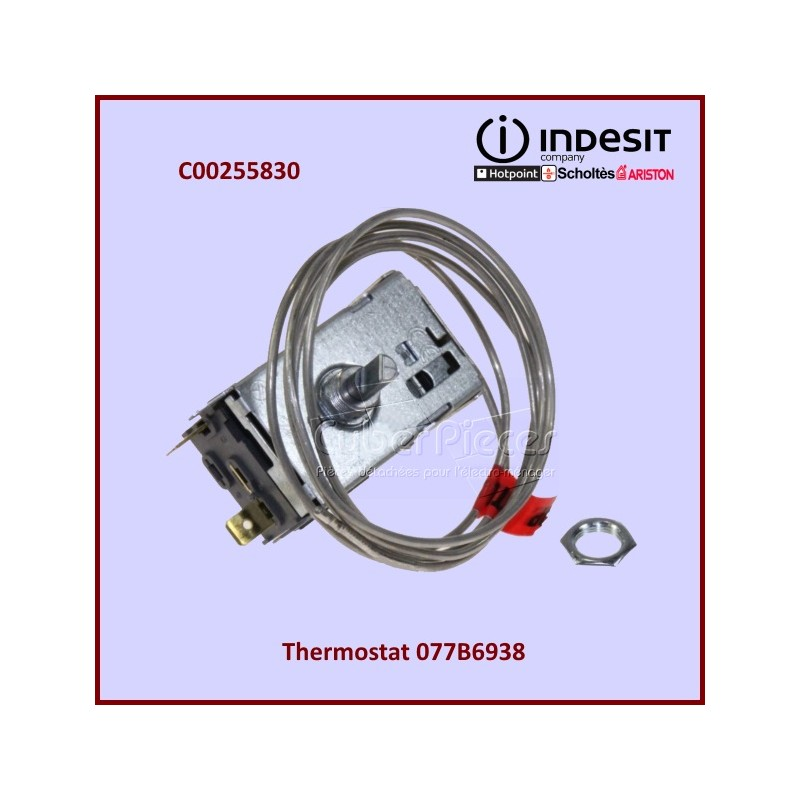 Thermostat ROHS 077B6938 Indesit C00255830