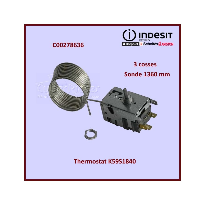 Thermostat K59S1840 Indesit C00278636