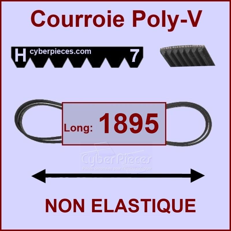 Courroie 1895 H7 non élastique